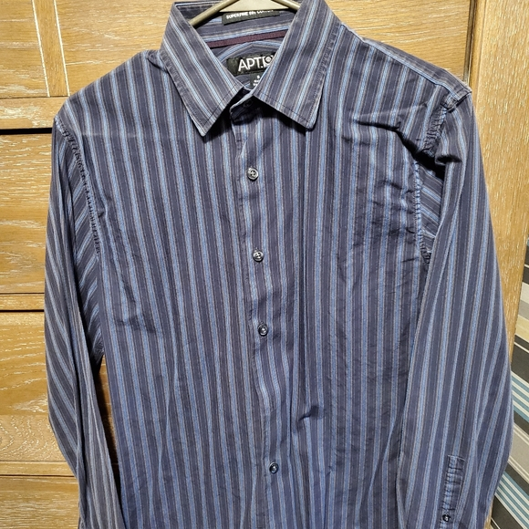 Apt. 9 Other - Apt 9 blue striped button up